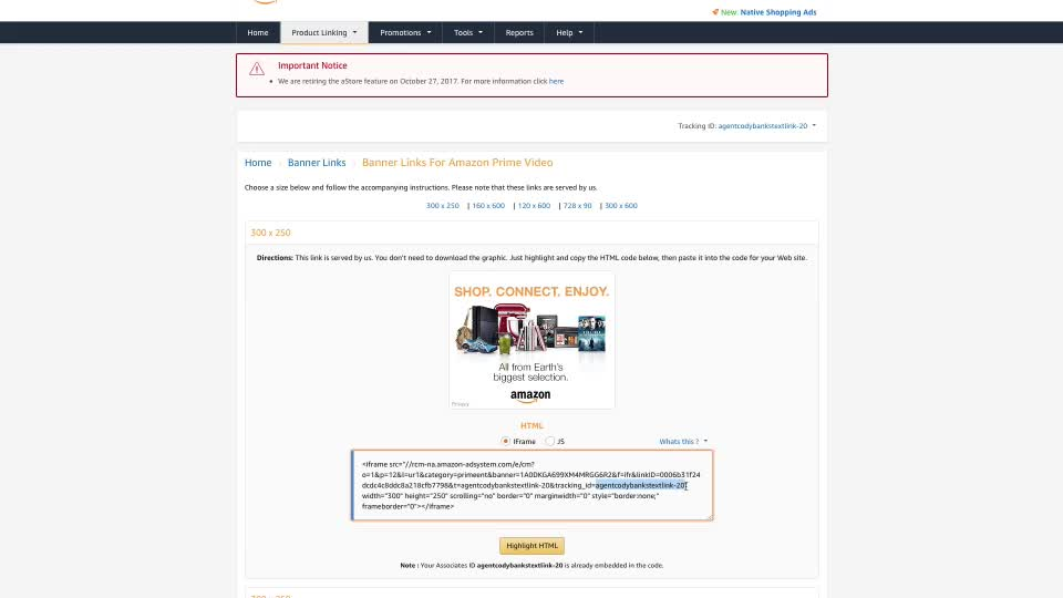how to create amazon affiliate account