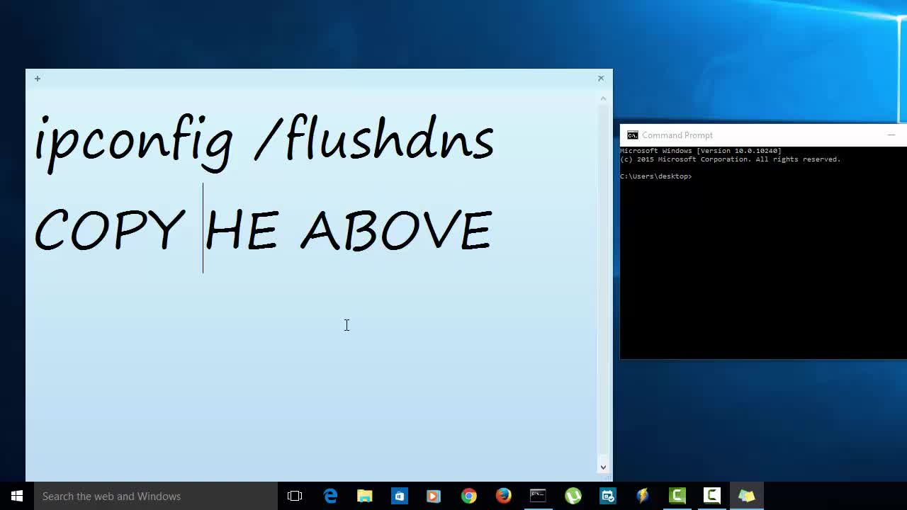 How to flush dns the easy way with sticky notes ccuart Images